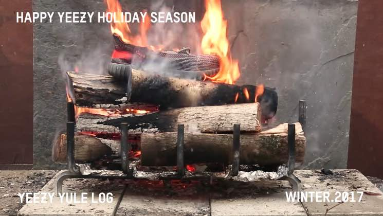 Ruin Kanye West's Christmas with the Yeezy Yule Log