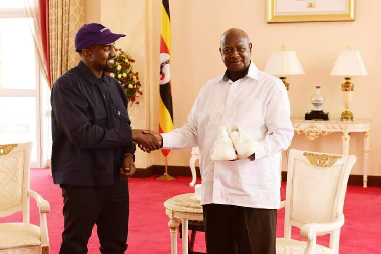 ​Kanye West Met with the President of Uganda and Gifted Him a Pair of Yeezys