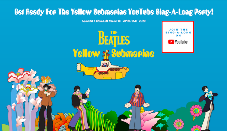 The Beatles Are Hosting a Virtual 'Yellow Submarine' Singalong This Weekend