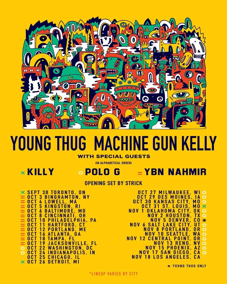 Young Thug and Machine Gun Kelly to Play Toronto on North American Tour