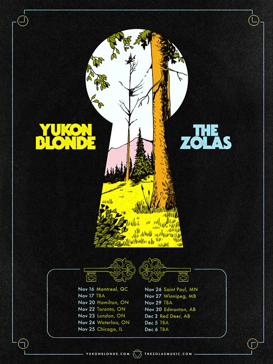 Yukon Blonde and the Zolas Plot Canadian Tour