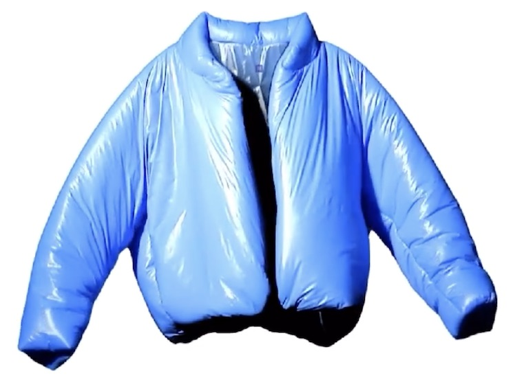 Kanye West's First Yeezy Gap Item Is a Puffy Blue Jacket