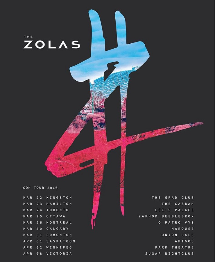 The Zolas Take 'Swooner' on Canadian Tour