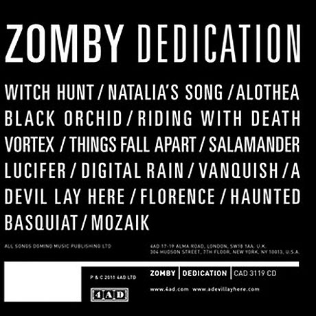 Zomby 'Dedication' (album stream)
