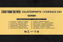 Comeback Kid, Counterparts and Stray From the Path Announce Co-Headlining Canadian Tour