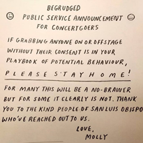"Alvvays Issue PSA to Grabby Concertgoers: ""Please Stay Home"""