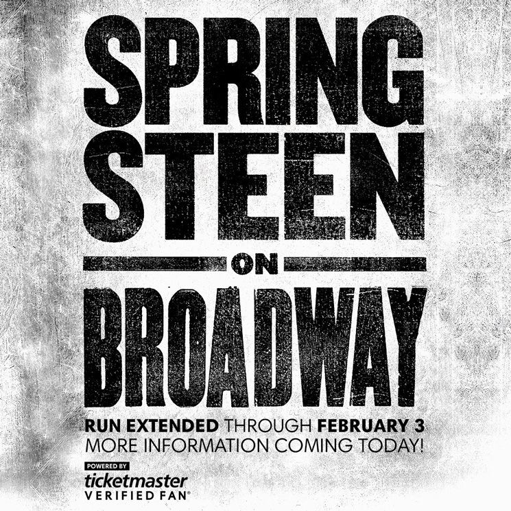 Springsteen on Broadway Extended 10 Weeks