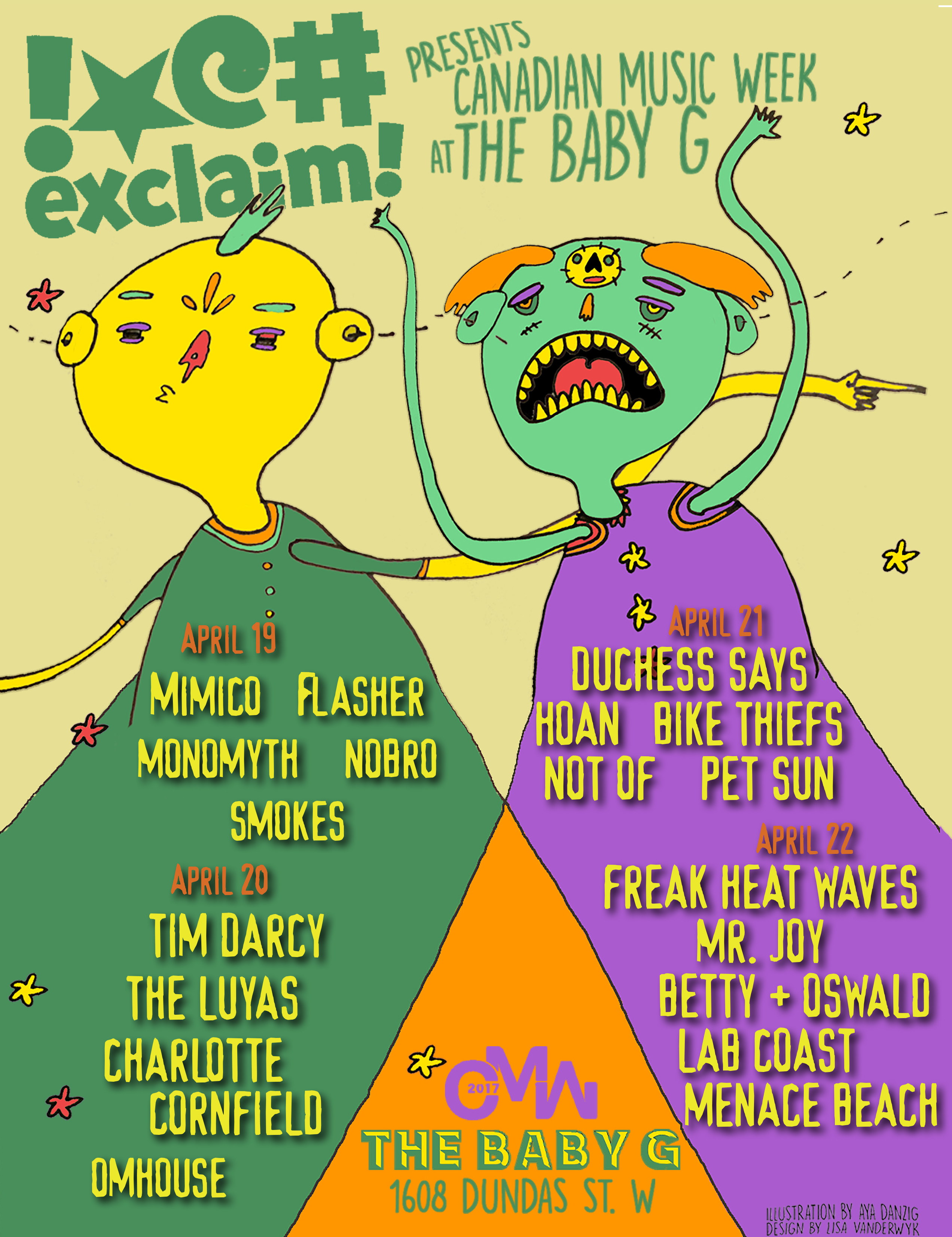 Duchess Says, Tim Darcy, the Luyas, Monomyth Join Forces for Exclaim!'s CMW Extravaganza at Baby G