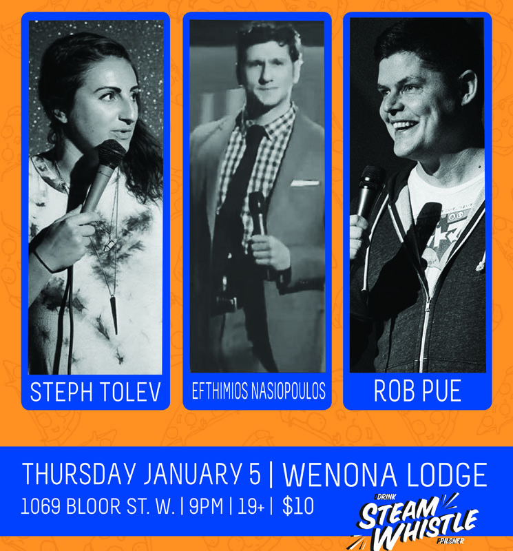 Steph Tolev, Efthimios Nasiopoulos and Rob Pue Get Social at January's Comedy Records/Exclaim! Standup Showcase