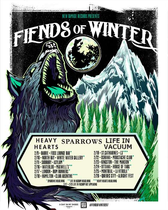 "Sparrows, Heavy Hearts and Life in Vacuum Team Up for ""Fiends of Winter"" Tour"