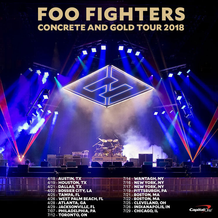 Foo Fighters Tour Sates