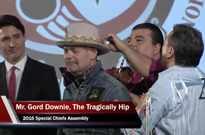 Gord Downie Honoured by Assembly of First Nations for Reconciliation Efforts
