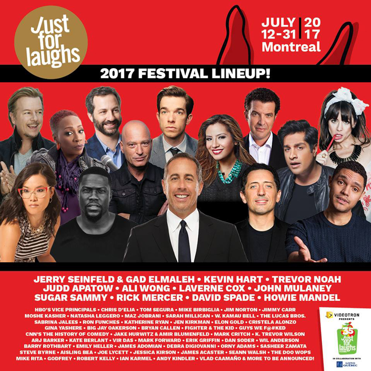 Just for laughs gets jerry seinfeld kevin hart trevor for Endless joy cabin gatlinburg