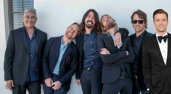 Justin Timberlake records with Foo Fighters