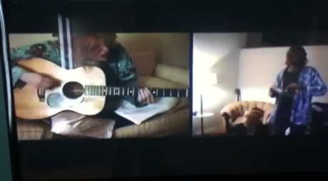 "Kurt Cobain and Courtney Love""Stinking of You"" (video)"