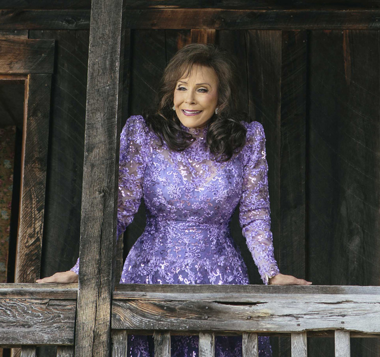 Loretta Lynn - 2017 Light Brown hair & alternative hair style. Current length:  medium long hair (shoulder length)