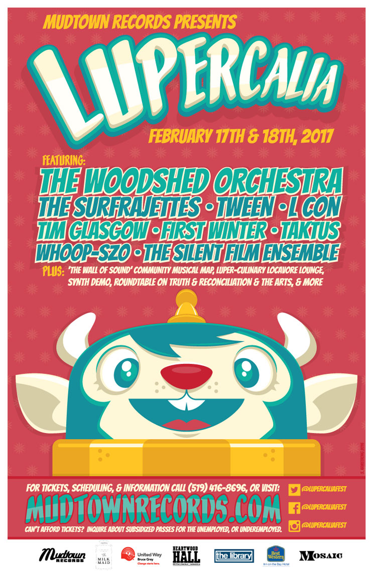 ​Lupercalia Fest Returns to Owen Sound with the Woodshed Orchestra, the Surfrajettes, WHOOP-Szo