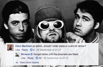 Something Weird Is Going On with the Nirvana Facebook Page