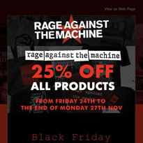 Rage Against the Machine Officially Surrender in the Fight Against Capitalism with Their Own Black Friday Sale