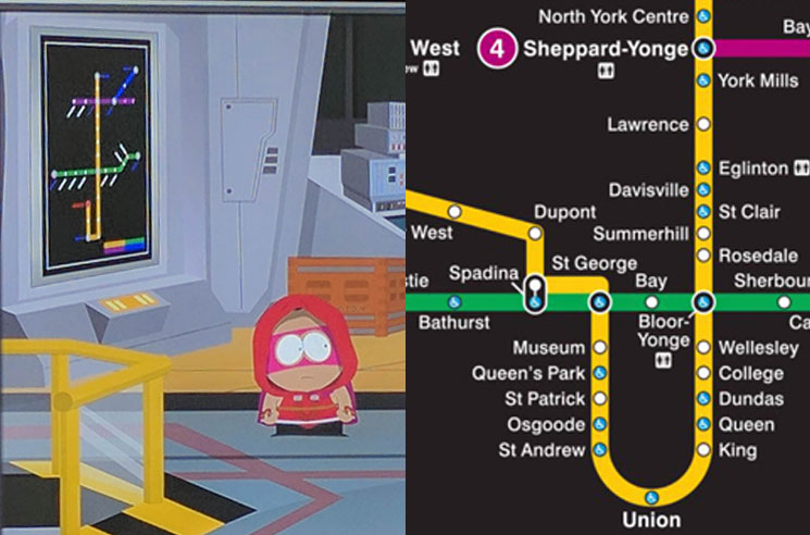 Subway Map Ttc.South Park Videogame Fractured But Whole Features Toronto S