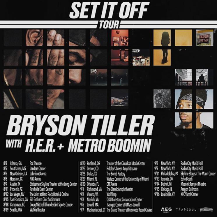 Bryson Tiller Announces 'Set It Off Tour'