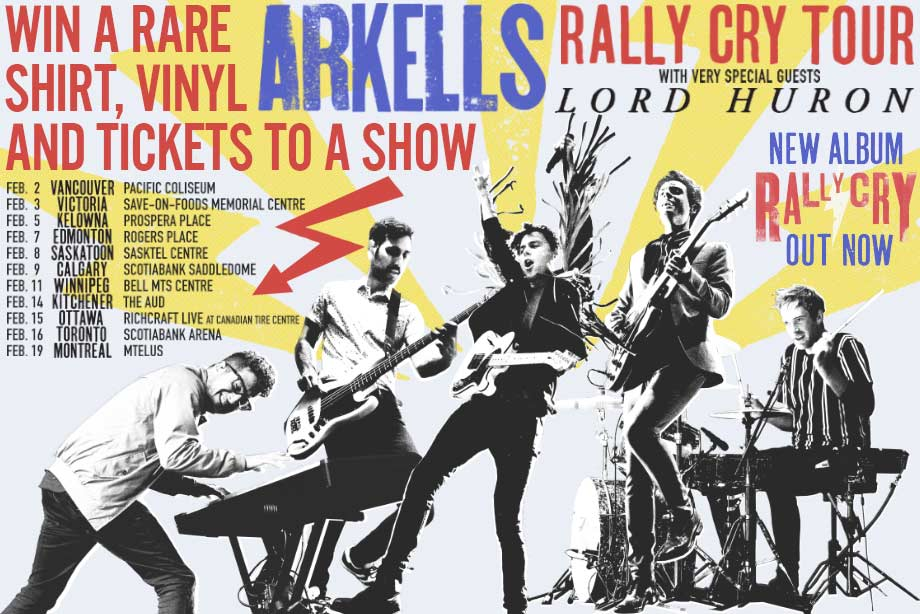 Arkells - Win a one-of-a-kind shirt, 'Rally Cry' LP and tickets to see them!