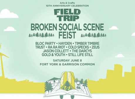 Arts & Crafts Celebrates 10th Anniversary with Toronto Festival Featuring Broken Social Scene, Feist, Bloc Party, Hayden