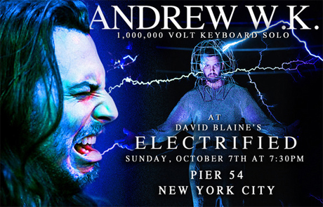 "Andrew W.K. to Send ""1,000,000 Volts of Party Music"" Through David Blaine's Body"