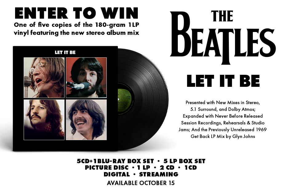 The Beatles — Enter for a chance to win the new special edition of 'Let It Be' on vinyl!