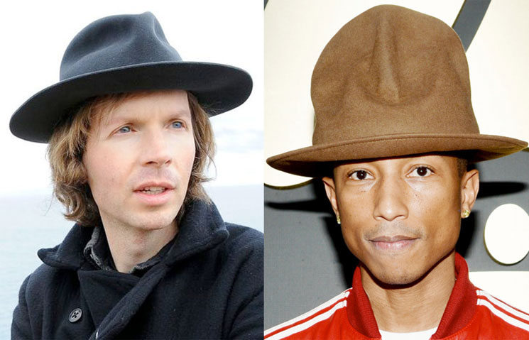 We Apparently Have Beck to Blame for Pharrell s Massive Grammys Hat f622f0bfedf