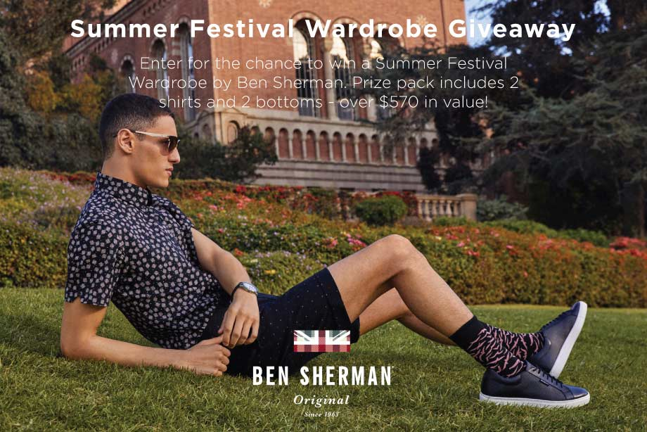 Ben Sherman - Enter to Win a Summer Festival Prize Pack!