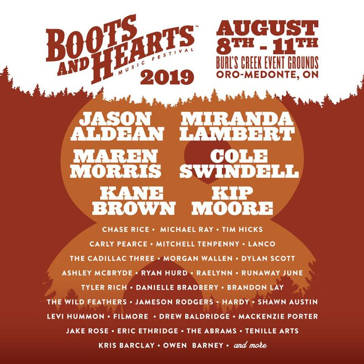 Ontario S Boots And Hearts Festival Unveils 2019 Lineup