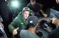 Justin Bieber Hits Photographer with Pickup Truck