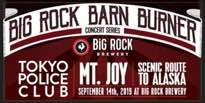 Calgary's Big Rock Barn Burner Gets Tokyo Police Club, Mt. Joy, Scenic Route to Alaska