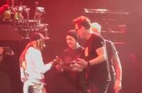 Watch Blink-182 Gift Lil Wayne a Blunt Onstage at Their Last Show Together
