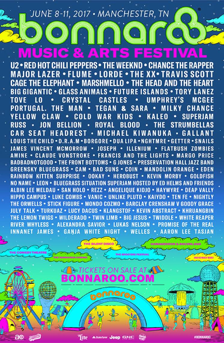 ​U2, Red Hot Chili Peppers, the Weeknd and Chance the Rapper Top 2017 Bonnaroo Lineup
