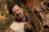 Watch Ricky Gervais Frolic in a Field with a