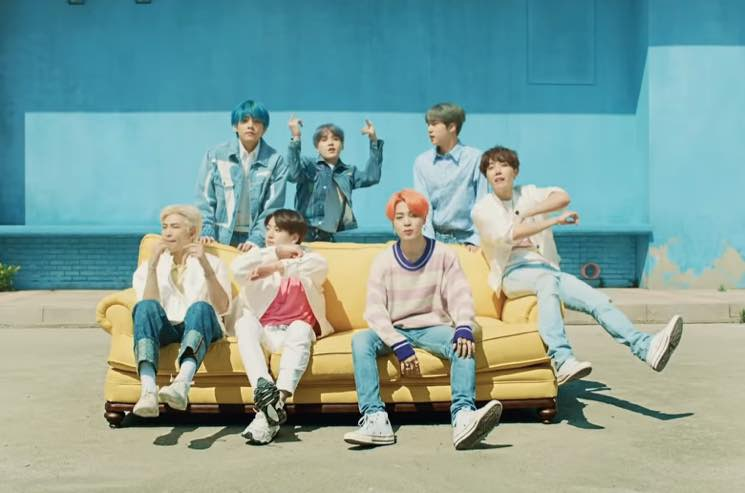 bts and halsey break the internet with  u0026quot boy with luv u0026quot  video