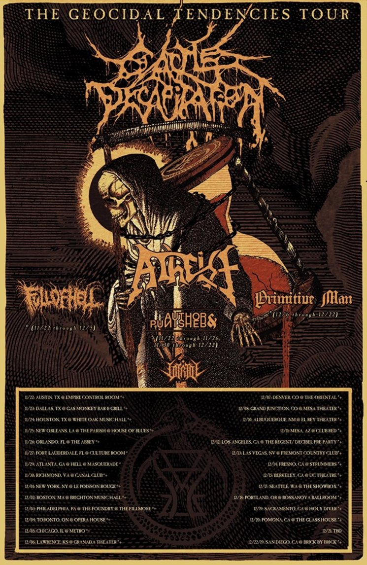 Cattle Decapitation – 'The Geocidal Tendencies Tour'