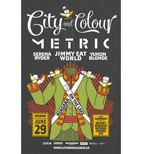 City and Colour to Headline Niagara-on-the-Lake Show with Metric, Jimmy Eat World, Serena Ryder, Yukon Blonde