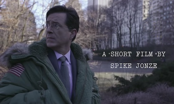Watch a New Spike Jonze Short Starring Stephen Colbert