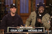 'SNL' Weekend Update Hosts Colin Jost and Michael Che Will Wrestle in WrestleMania 35