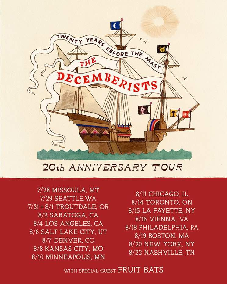 The Decemberists Bring 20th Anniversary Tour to Toronto