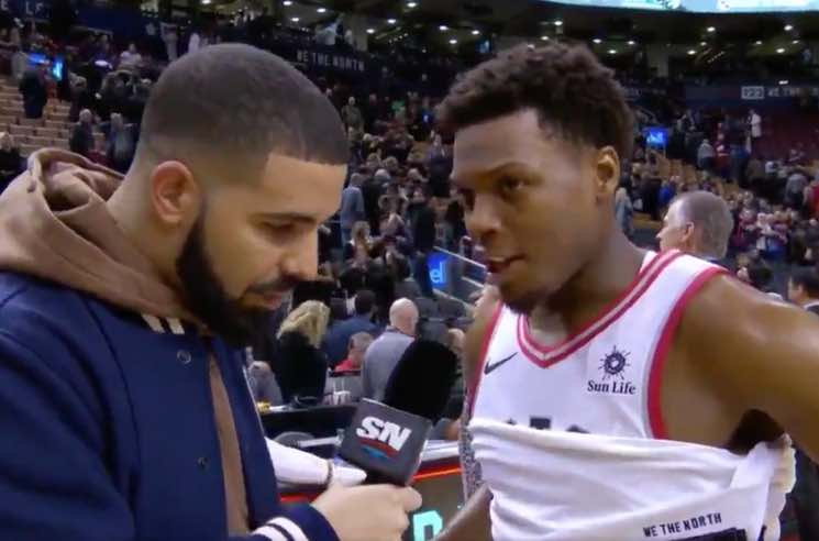 Drake Stole The Show At The Toronto Raptors Game Last Night