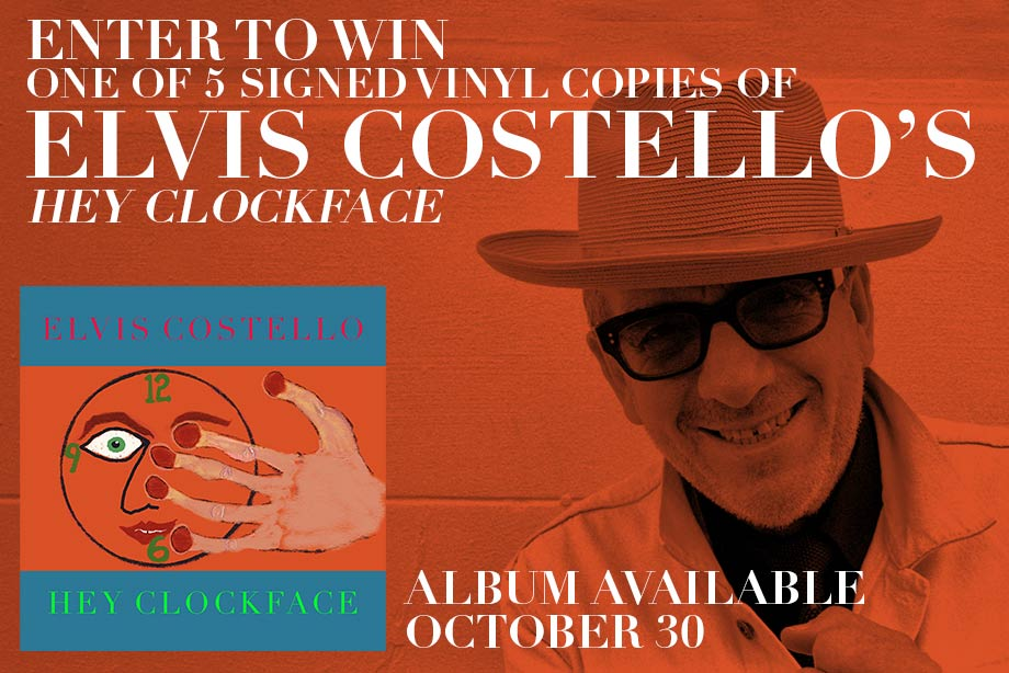 Elvis Costello – Win a signed vinyl copy of 'Hey Clockface!'