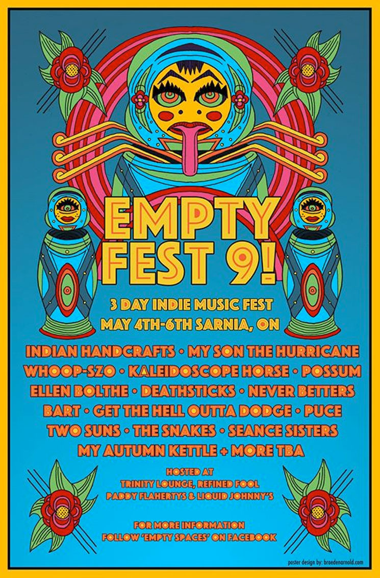 Sarnia's Empty Fest 9 Gets Indian Handcrafts, Bart, My Son the Hurricane, Possum, Whoop-Szo