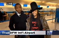 Erykah Badu Interviewed About Airport Delays on CBS News