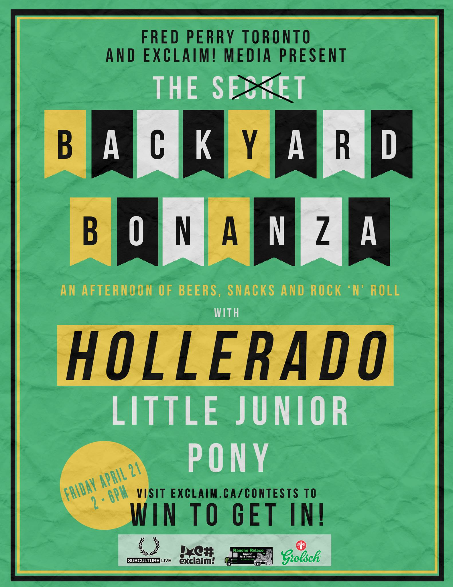 Exclaim! and Fred Perry Team Up for the Secret Backyard Bonanza with PONY, Little Junior and Hollerado