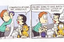 Jim Davis Swears Jon Isn't Drinking Dog Semen in Viral 'Garfield' Strip