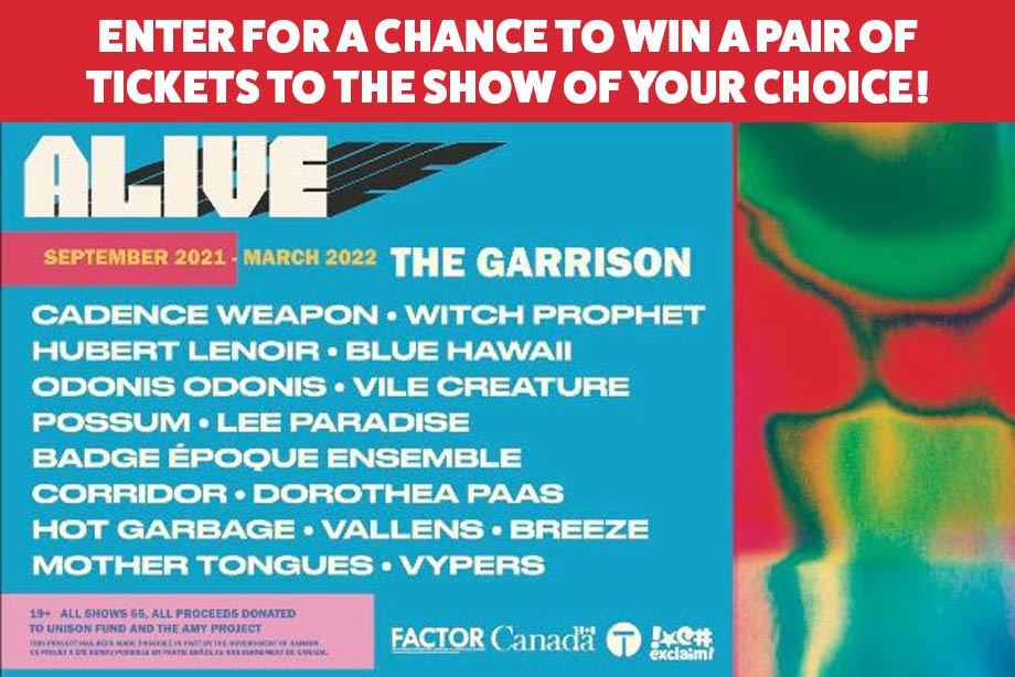 The Garrison –Enter for a chance to win a pair of tickets to an ALIVE concert series show!